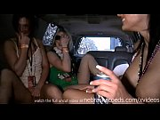 party girls getting naked in limo on spring.