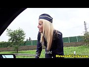 European teen stewardess...