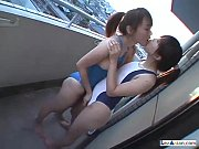2 Asian Girls In Swimsuit Rubbing Tits On The Balcony One Of Them Licked And Fin