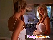 Hot smoking blondes in a lesbian episode