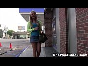 Hot Blonde Teen Hailey Holiday in a Gloryhole with a Black Dick