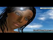 3d cartoon ebony honey takes her.