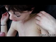 Skinny teen Aimee Ryan fucked in the car and cum facialed