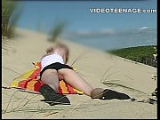 blonde teen upskirt at beach