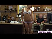 Tight amateur blonde waitress pounded at the pawnshop