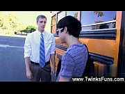 Gay movie of Caught smoking by the bus, Kyler Moss is on the