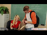 Stockinged blonde teacher Laura Bentley fucking