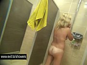 Many amateur girls spied in a public shower room