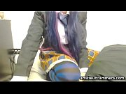 emo babe and her anal performance for a.