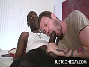 white dude sucks big black cock