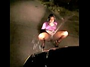 sexy girl outside squirtin on car out n.