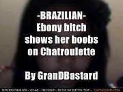 Ebony brazilian plays with boobs on camby GranDBastard ebony sex live webcam live