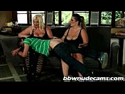 bbw sandwich threesome with 2 fat bitches dominating.