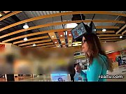 Attractive czech cutie gets tempted in the mall and rode in pov