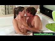 slippery brunette takes cum and gives nuru massage 11