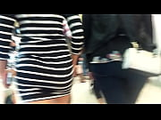 Nice candid Booty walking in short dress at mall