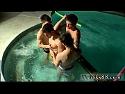 Free gay fem twink movietures first time Undie 4-Way - Hot Tub Action
