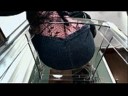 POV of dominant female in fishnets