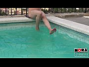 Teen Feet Playing In The Pool. Trailer X