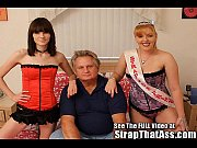 hot strap-on princesses pegging a lil bitch of.