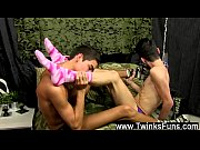 Shooting cum into gay twink ass tube The men are feeling kinky, but