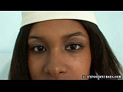 Black nurse Manuela speculum and dildo masturbation