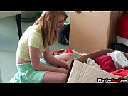Blonde amateur lets her bf try her ass Maci Moore 1