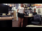Naughty amateur blonde waitress gets banged at the pawnshop