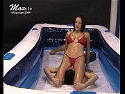 mixed oil wrestling - 002 - exhausted - rebekah