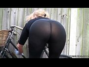 ass see through lycra leggings outdoors