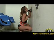 White whore sucks and fucks black cock for cusmhot at gloryhole 25