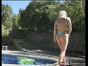 bbw blonde gets banged near pool