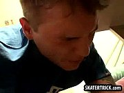 Skater hunk getting bent over and spanked hard