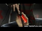 Twink video In a weird desire Ashton Cody is tied up and stripped by