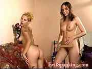 Hot lesbians An and Sue slapping each other