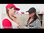 Sports girls Charley Chase and Natasha Nice fuck in the locker room.