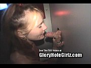 Nasty Skank Sucking Cocks Thru Glory Hole