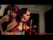 lezdom mistress punishes bondage sub