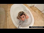 big tit sara jay is cumming in the tub!