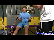 Gaybait jock fucked while working out