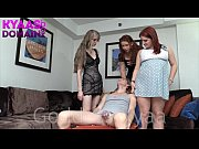 sissy smothered by 3 perfect asses.