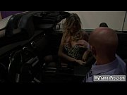 Curvy blond tranny Angelina Torres with big tits gets rammed