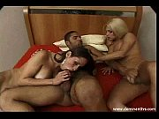 Two shemales use a male cock sucker