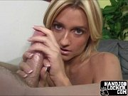Blonde amateur teen handjob