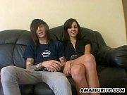 amateur couple home action with facial.
