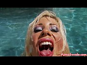 euro babe puma swede fucks herself by the pool!