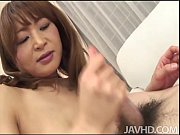 Cock hungry Hikaru Wakabayashi on her knees sucking dick and then titty fucked