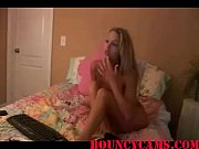 Blond Shoves Dildo In Cunt Pussy On Bouncycams.com