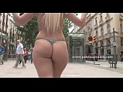 Hot blonde slut in public disgrace sex