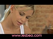 lesbea young girl sinks her massage fingers deep.